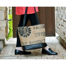 Slouchy Leather Coffee Bean Sack