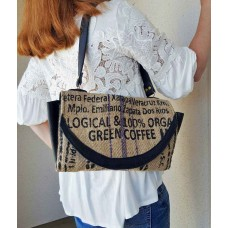 Graphic Coffee Bean Shoulder Bag